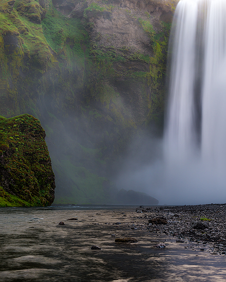 Into The Mist | Iceland My interpretation of Skogafoss Waterfall, Summer 2015.